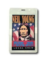 PEARL JAM NEIL YOUNG AUTHENTIC LOCAL CREW BACKSTAGE CONCERT PASS - BAND TOUR