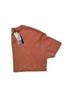 BNWT SABA Mens T-Shirt Size XL Terracotta Pima Cotton Short Sleeve