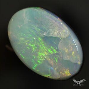 2.15 cts Australian Lightning Ridge Opal Doublet Polish Pendant Beautiful #7.042