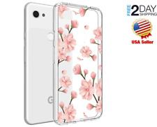 Google Pixel 3a Case ShockProof TPU Slim Scratch Proof Clear Peach Blossom Cover