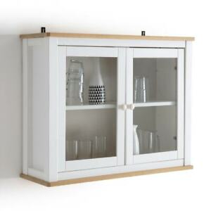 La Redoute Alvina Solid Pine Display Cabinet rrp £195 now £75 COLLECT WF119HS