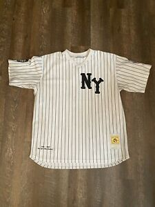 NY Black Yankees Negro League Baseball Jersey Men 2XL XXL Headgear Classics #2