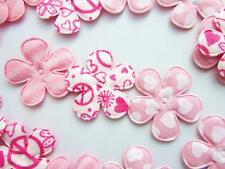 60 All Pink Sweet Heart & Floral Valentine Flower Applique/doll/trim/bow H334