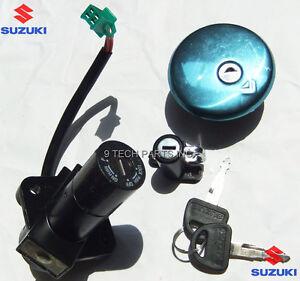 Suzuki GN250 MAIN SWITCH KIT IGNITION SWITCH FUEL TANK CAP HELMET LOCK 2 KEYS