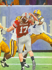 LSU TIGERS BEAT OHIO STATE FOR BCS NATIONAL CHAMPIONSHIP ORIGINAL PAINTING