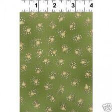 Laurel Burch Fabulous Felines Fushia Gold Metallic Paw Prints 1 Yard  Fabric