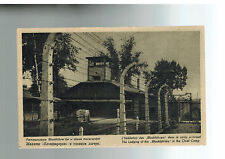 Mint 1940s Auschwitz Concentration Camp real picture Postcard Kapo Barracks