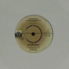 """DAVID SOUL 'LET'S HAVE A QUIET NIGHT IN' UK 7"""" SINGLE #3"""