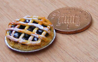 1:12 Jam Lattice Tart Dolls House Miniature Bakery Kitchen Pie Accessory D32