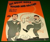1935 Piano Sheet Music w-Guitar Acc: THE MUSIC GOES ROUND AND AROUND