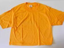 "NOS Vintage '80's Stedman Half Tee-Shirt X-Large Sports Workout Gold 44"" USA!"