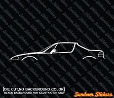 2X Car silhouette stickers - for Honda Del-Sol crx (1992-1998) W/ closed roof