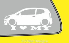 2x LOVE LOW vw Volkswagen UP! up Outline VAG silhouette sticker Dub decal LR351