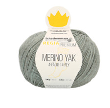 Regia Premium Merino Yak 100g Sockenwolle  4 fädig Farbe 07513 mint meliert