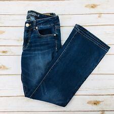 American Eagle Women Jeans Favorite Boyfriend Stretch Straight Leg Low Rise Sz 6