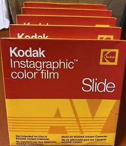 NOS NIP 5 Packs (10 Pics / Pack) KODAK Instagraphic Color Slide Film  AVS 144-10