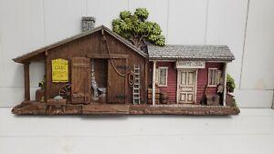 Vintage1975 Homco Burwood Sexton Isaac Blacksmith/Harry's Feed&Grain Wall Plaque