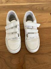 Girls Adidas White Velcro Trainer Size 4