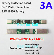 1S 3.7V 3A Li-ion Lithium Battery 18650 Charger BMS Cell Protection PCB Board