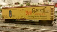 Train Miniature HO 40' Wood Reefer, Goetz Beer, Upgraded, Ex