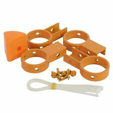 Protector TEMPORARY POOL FENCE BRACKETS 4Pcs 6 Screws & 5 Zip Ties *Aust Brand