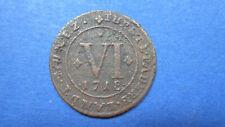 Paderborn Bistum 6 Pf. 1718 m. kleines Lamm i. Wappen in ss (3731-1)