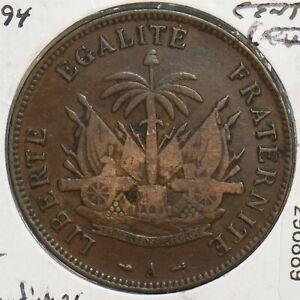Haiti 1894 2 Centimes 296889 combine shipping