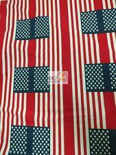 "AMERICAN PRINT POLAR FLEECE FABRIC - Vintage American Flag - 60"" SOLD BTY - 598"