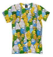 The budgerigar t-shirt budgie parrot bird full print art pattern all over print