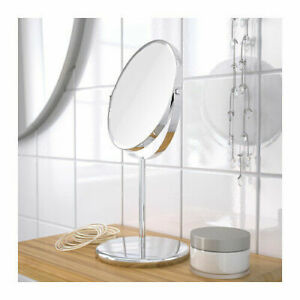 NEW IKEA TRENSUM SHAVING MIRROR NORMAL & MAGNIFIER BATHROOM STAINLESS STEEL