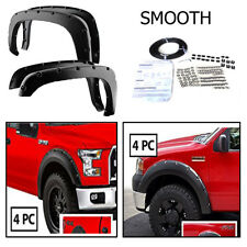 For Ford F150 04-08 Smooth Black Fender Flares Set Brand New Smooth Paintable