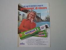 advertising Pubblicità 1974 BROOKLYN GOMME CHEWING GUM PERFETTI