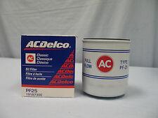 Chevelle SS Malibu Classic / Vintage PF25 Oil Filter w/AC logo, NEW AC Delco