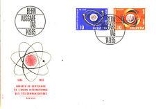 Ersttagsbrief Schweiz MiNr. 823-824 - UIT-Kongress, Montreux