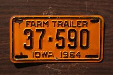 1964 Iowa Farm Trailer License Plate - Motorcycle Size
