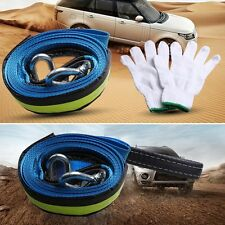 5M 8 Tons Car Emergency Tow Cable Heavy Duty Towing Pull Rope Strap With Hooks
