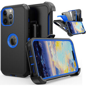 For iPhone 11 12 13 Pro Max XR XS MAX Case Shockproof Rugged W/Belt Clip Cover