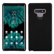 For Samsung Galaxy Note 9 - Black Hybrid Hard Rubber Protector Armor Case Cover