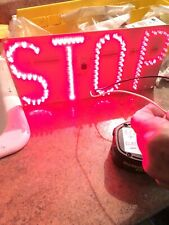 Led Stop Sign Lighted Bar Sign Mancave Nice!