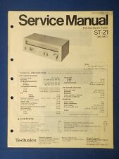TECHNICS ST-Z1 TUNER SERVICE MANUAL ORIGINAL FACTORY ISSUE THE REAL THING