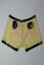 100% Latex Rubber Gummi Slip Shorts 0,45mm Panty Pants Thong Catsuit Ganzanzug