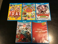 Wii U 5 Game Lot: Toad Tracker, Donkey Kong, Animal Crossing, Disney Infinity