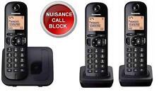 Panasonic Telephone, Cordless, Nusiance Call Block, Trio Pack