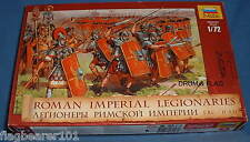 ZVEZDA 8043 ROMAN IMPERIAL LEGIONARIES. ROMANS INFANTRY. 1:72 SCALE. 52 FIGURES