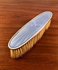 TIFFANY & CO. HAND WROUGHT STERLING SILVER & GUILLOCHE (ENAMEL) CLOTHES BRUSH