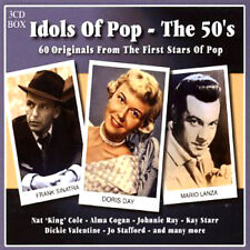 IDOLS OF POP THE FIFTIES / 50's ORIGINAL GREATEST HITS NEW + SEALED 3 CD BOX SET