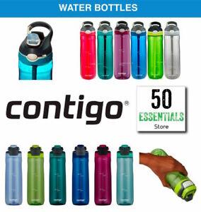 Contigo Autospout Ashland Autoseal BPA-free Gym Drink Water Bottle 6 Colours