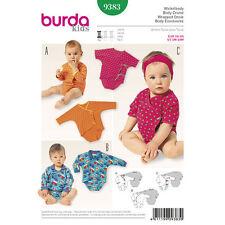 Burda Sewing Pattern 9383 Size 1m-18m  Babies Infants Easy  All-In-One Bodysuit