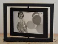 FOTORAHMEN Bilderrahmen Holzrahmen für zwei Fotos 10 x 15 schwarz