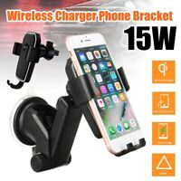 Qi Wireless Fast Charger Car Holder Gravity Mount For iPhone X XS Max S9+ Note